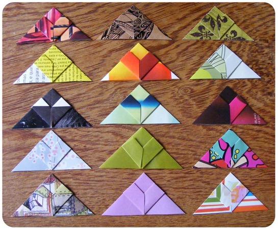 Marca páginas de origami