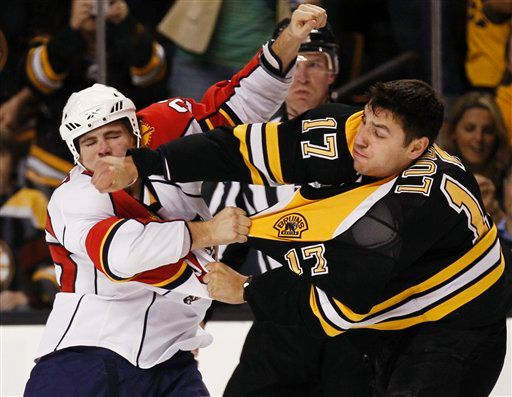 Milan Lucic punching Triston Grant