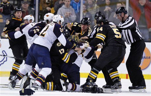 Boston Bruins-Atlanta Thrashers line brawl