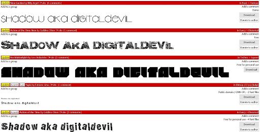 dafont 字體多到爆炸的字體蒐集網站