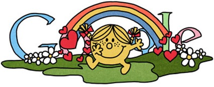 76th Birthday Of Roger Hargreaves-Little Miss Sunshine Google Doodle Logo