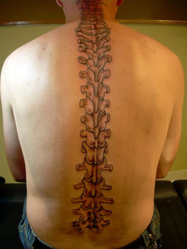 tags tattoo spine tattoos