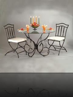 table séjour fer forgé