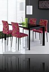 salle à manger deco rose