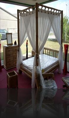 Chambre à coucher en bambou