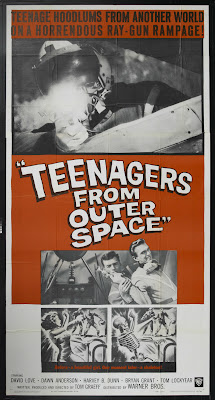 Teenagers from Outer Space (1959, USA) movie poster
