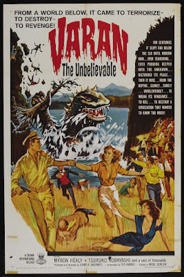 Varan the Unbelievable (1962, USA) movie poster