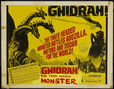 Ghidrah, the Three-Headed Monster (San daikaijû: Chikyû saidai no kessen) (1964, Japan) movie poster