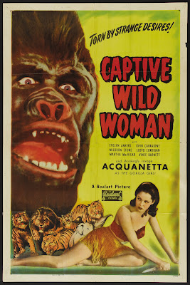 Captive Wild Woman (1943, USA) movie poster