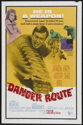 Danger Route (1967, UK) movie poster