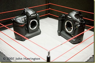 Test results from a test done by John Harrington (http://www.JohnHarrington.com) of the Nikon D3 and the Canon 1Ds Mark III, December 8, 2007 in Washington DC. The test was done for a review posted on http://www.PhotoBusinessForum.com.