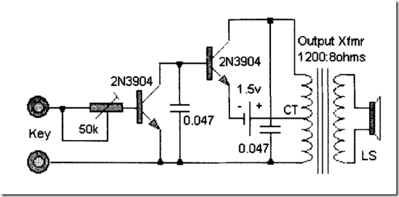 Radio Circuits Blog: Simple Morse Oscillator
