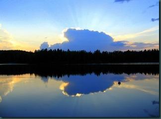 Вечер у озера