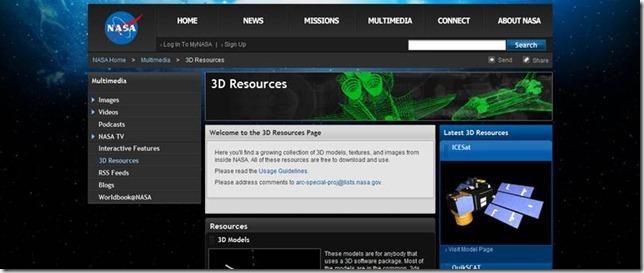Nasa 3D Multimidia Resource