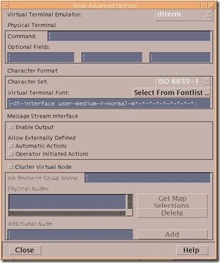 unix node add - advanced options