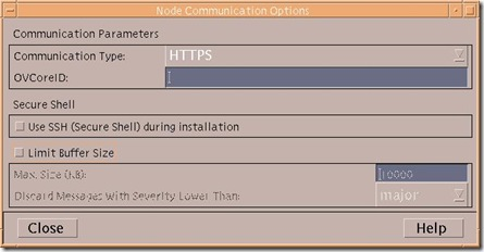 unix node add -  communications