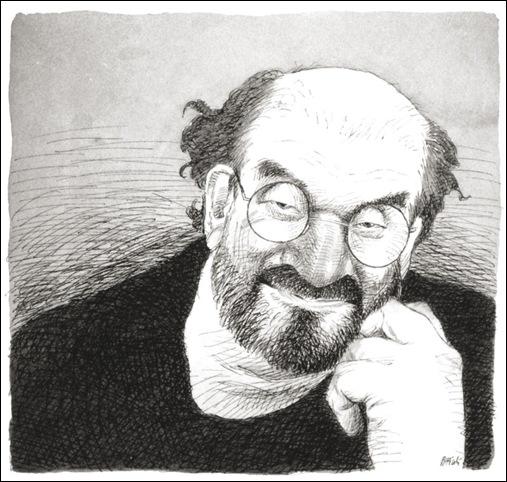 Salman Rushdie caricatura