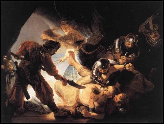 Rembrandt Sanson cegado por los filisteos 2