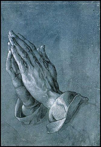 Durero manos dibujo sobre papel 1508