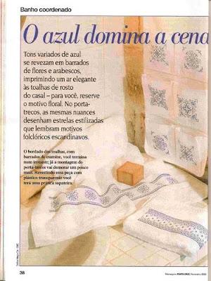 Juego de Baño en Azul - Paqueteria Revista0030