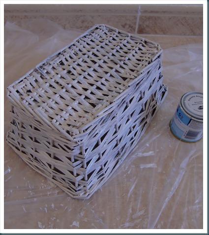 Cande cosas como pintar mimbre - Reciclar cestas de mimbre ...
