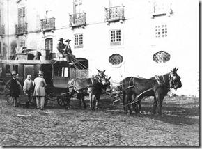 Diligância da Malaposta (1855 Partida de Lisboa-Porto)