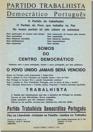 Partido Trabalhista Democrático Português 1974.1