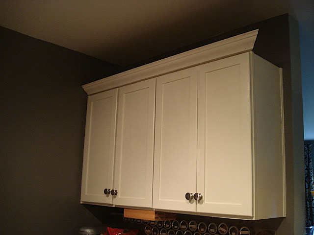 Adding crown molding to kitchen cabinets