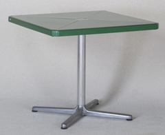 Square top Plano table, green