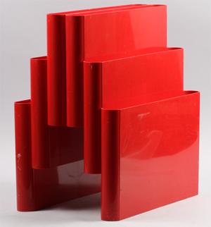 Kartell Stoppino 4675 magazine rack,red