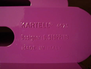 Kartell Stoppino 4675 magazine rack, purple