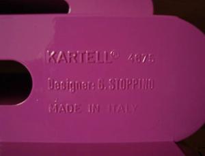 Kartell Stoppino 4675 magazine rack, purple
