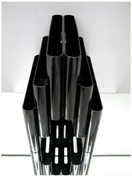 Kartell Stoppino 4675 magazine rack, black