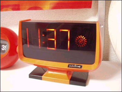Orange Lumitime clock