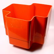 "Orange Vastill planter, model ""Big"""