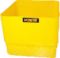 Yellow Vastill square planter