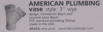 American Plumbing vase label