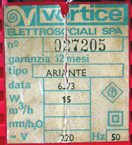 Ariante label, red