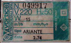 Ariante label, white