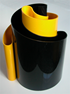 Deda vase black/yellow