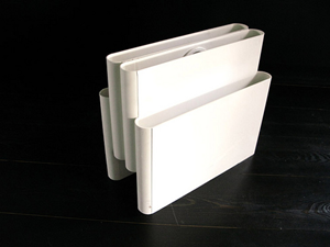 Kartell Stoppino 4676 magazine rack, white