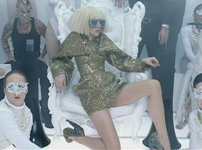 Lady Gaga with Zimku wireless speakers