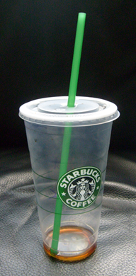 Starbucks disposable cup, front