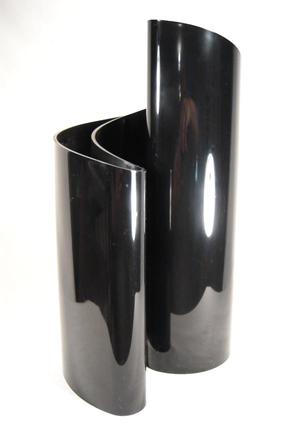 Black data vase