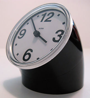 Alessi reissue of Cronotime clock, black