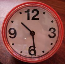 Original Cronotime clock, red