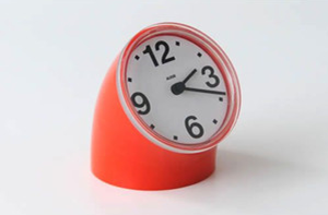 Alessi reissue of Cronotime clock, orange
