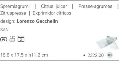 Latina citrus juicer catalog information