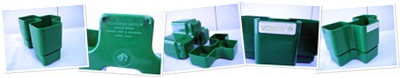 View Vastill Domino planter, green
