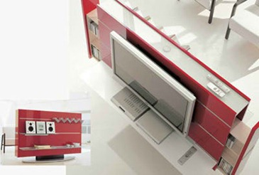 pacini-cappellini-tv-stand-red-open